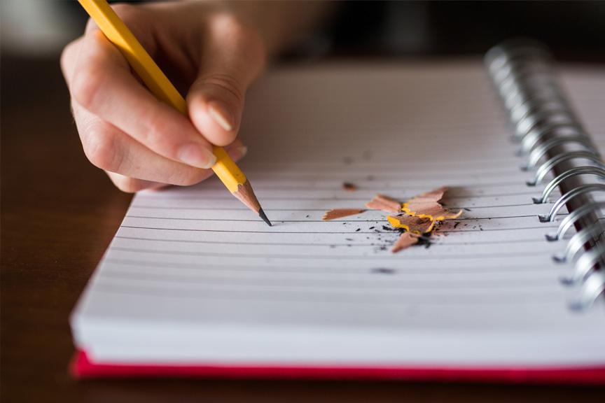 notebook-pencil-writing